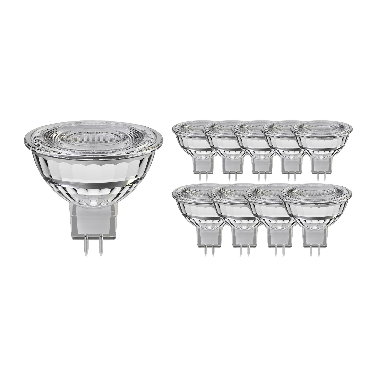 Multipack 10x Noxion LED Spot GU5.3 8W 830 60D 660lm | Dimmable - Warm White - Replaces 50W