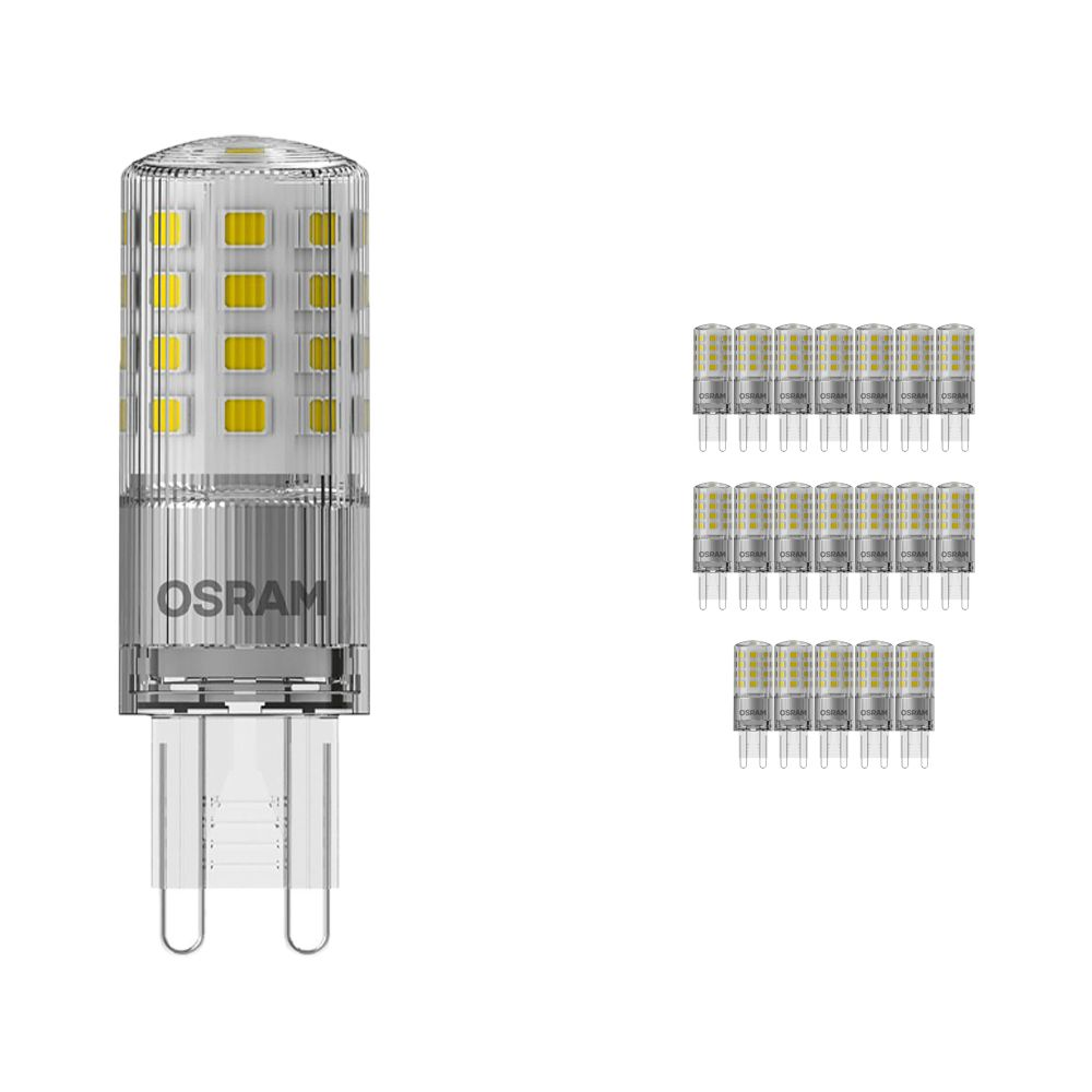 Multipack 20x Osram Parathom LED PIN G9 4.2W 827 | Dimmable - Extra Warm White - Replaces 40W