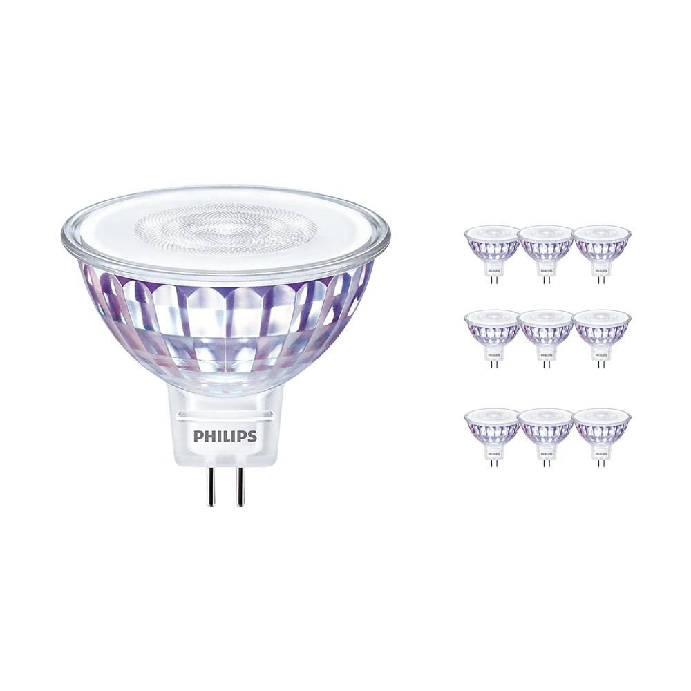 Multipack 10x Philips LEDspot VLE GU5.3 MR16 5W 827 36D (MASTER)   Extra Warm White - DimTone Dimmable - Replaces 35W