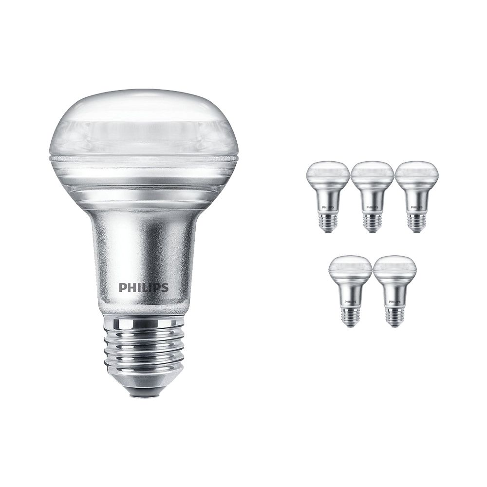 Multipack 6x Philips CorePro LEDspot E27 Reflector R63 4.5W 827 36D   Extra Warm White - Dimmable - Replaces 60W