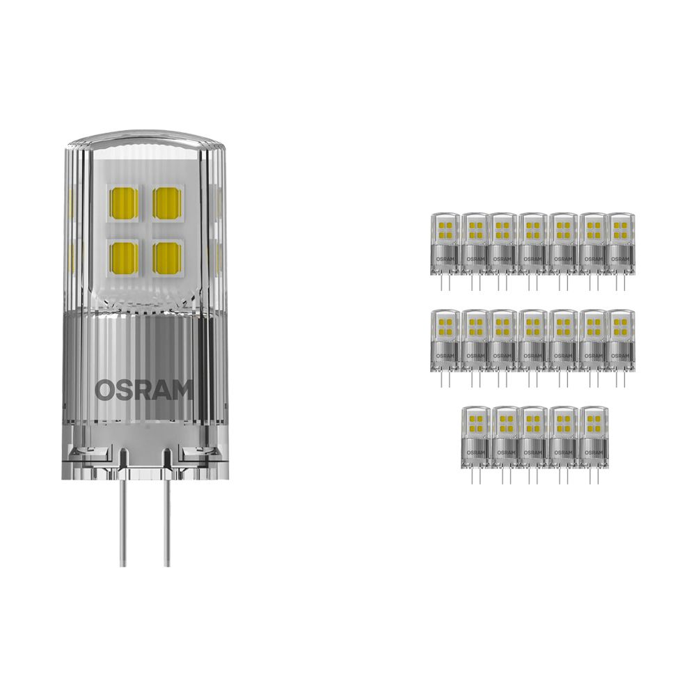 Multipack 20x Osram Parathom LED PIN G4 2W 827   Dimmable - Extra Warm White - Replaces 20W