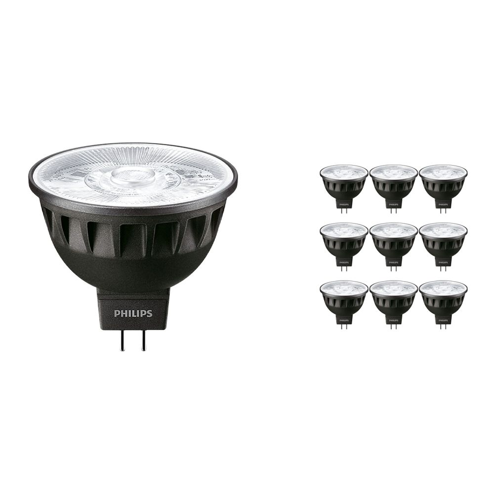 Multipack 10x Philips LEDspot ExpertColor GU5.3 MR16 6.5W 927 10D (MASTER)   Extra Warm White - Best Colour Rendering - Dimmable - Replaces 35W