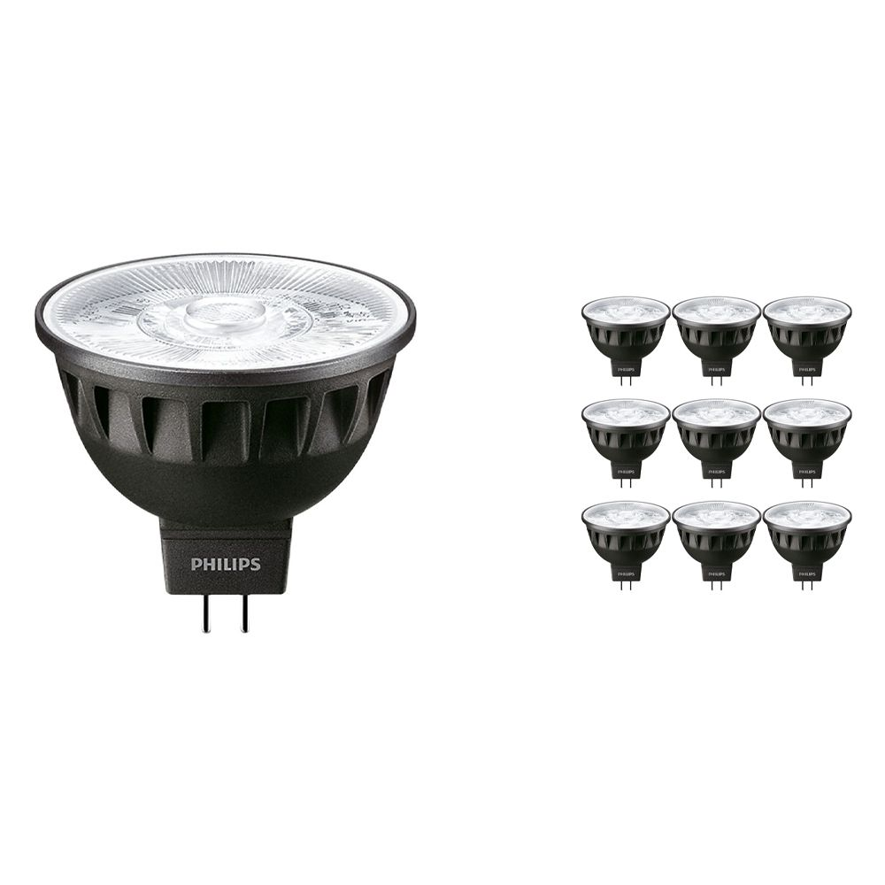 Multipack 10x Philips LEDspot ExpertColor GU5.3 MR16 6.5W 930 10D (MASTER) | Warm White - Best Colour Rendering - Dimmable - Replaces 35W
