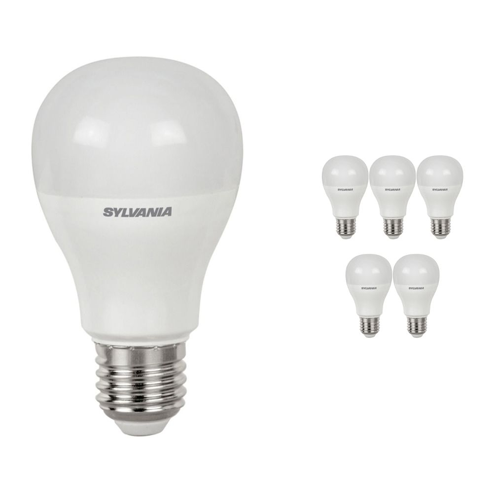 Multipack 6x Sylvania ToLEDo GLS E27 10.5W 865 Frosted   Replaces 75W