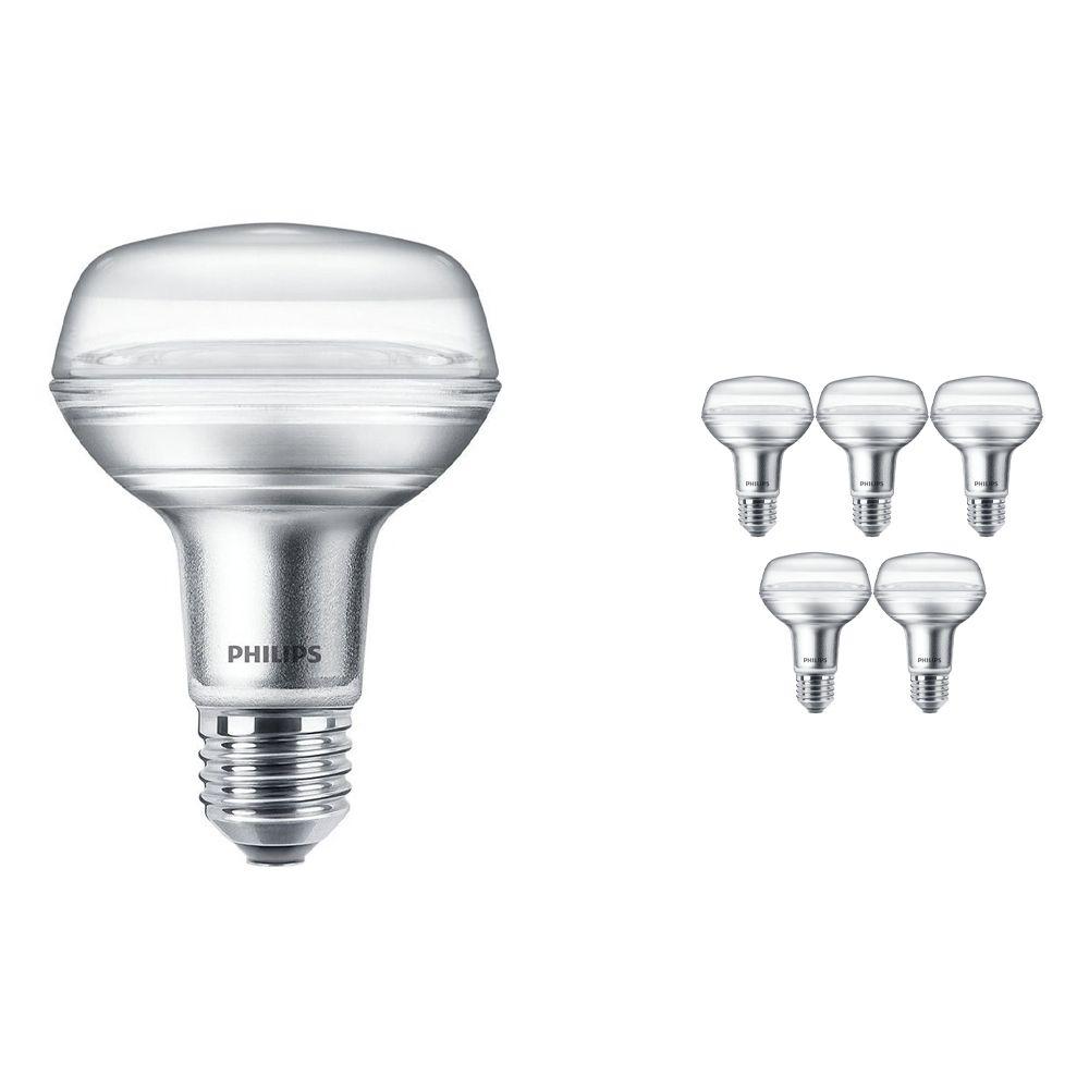 Multipack 6x Philips CorePro LEDspot E27 Reflector R80 4W 827 36D | Extra Warm White - Replaces 60W