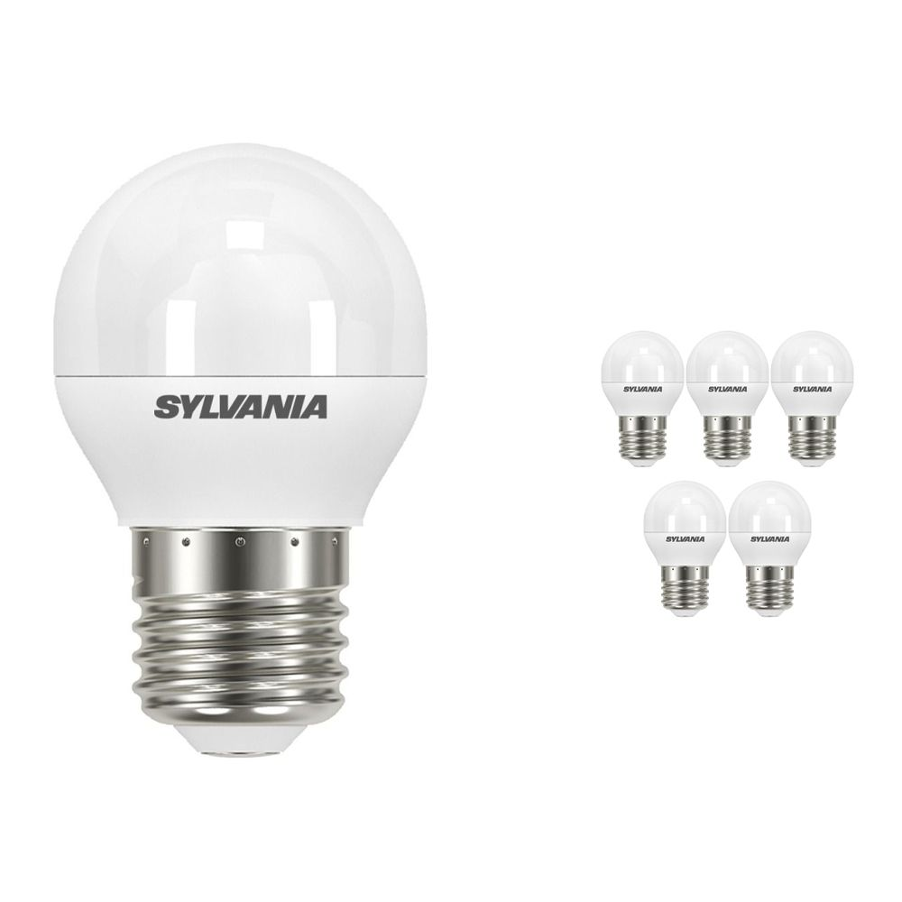 Multipack 6x Sylvania ToLEDo Ball E27 P45 Frosted 5.5W | Replaces 40W