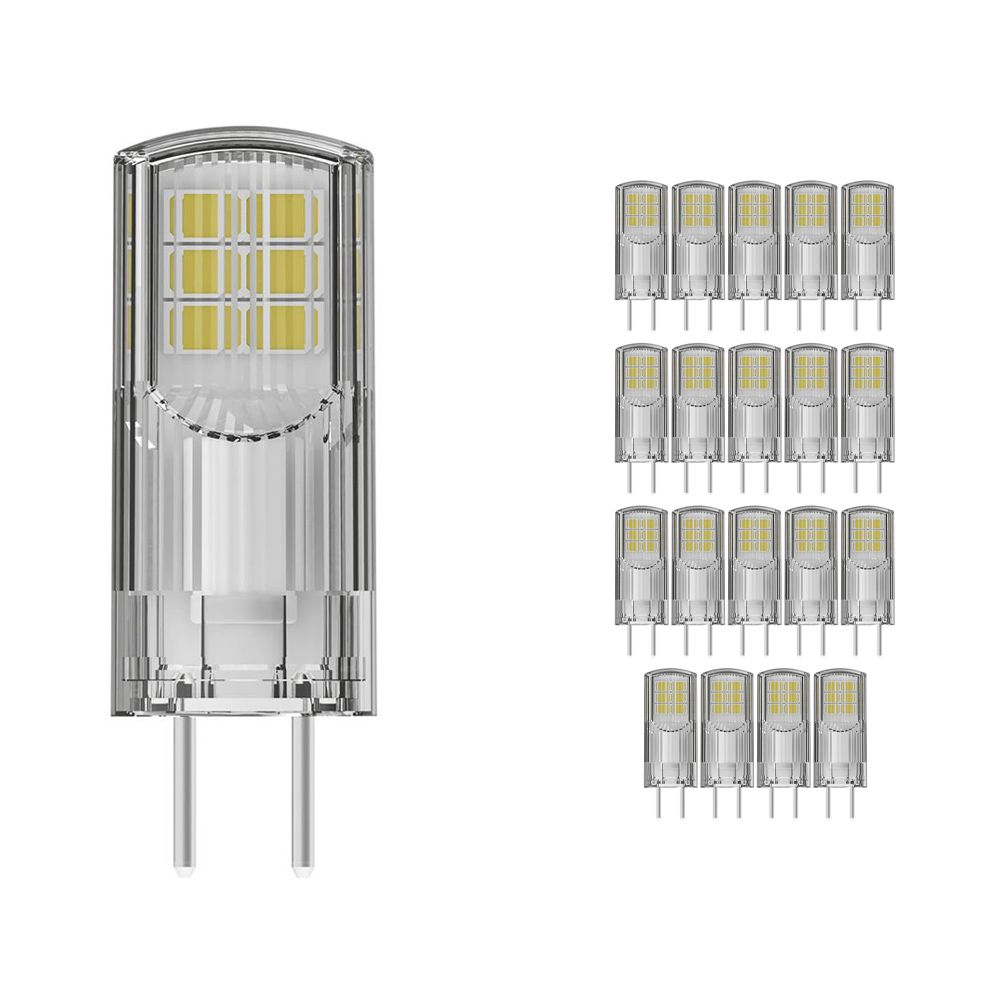 Multipack 20x Osram Parathom GY6.35 3W 827 300lm Clear   Extra Warm White - Replaces 30W