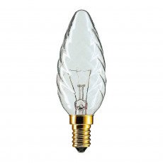 Philips Incandescent Twisted Candle 25W E14 230V BW35