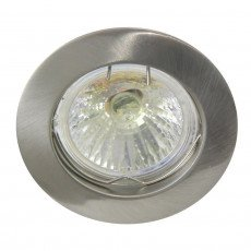 Halogen spot 51mm fixed brushed aluminium