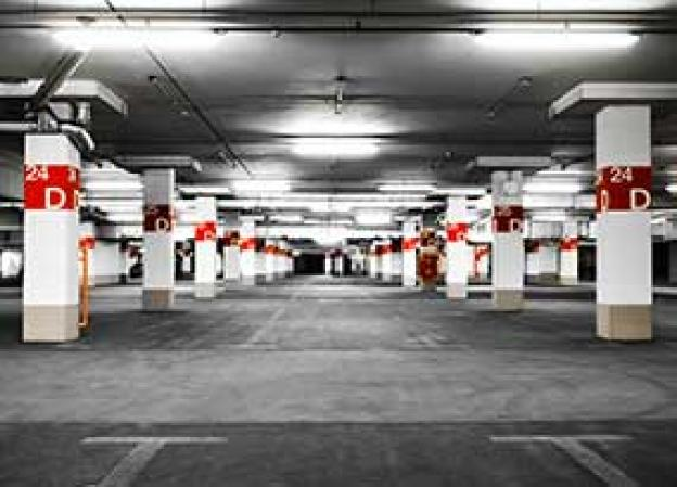 LED lighting for parking areas