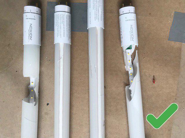 broken Noxion LED tubes